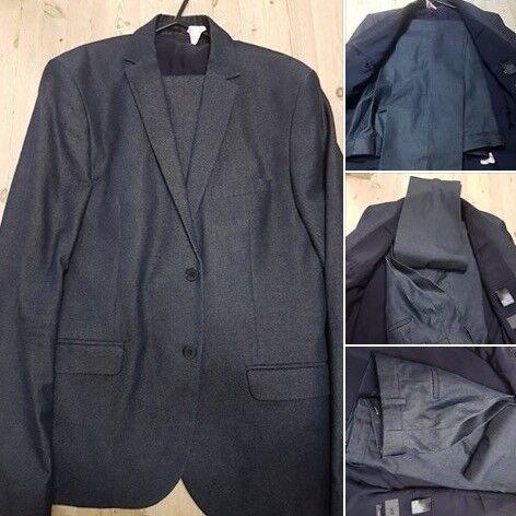 Blue Suit Trousers size 36R Jacket 42R