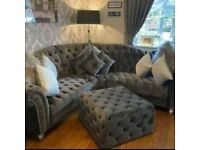 Brand New Italian elegance Chesterfield corner and 3+2 seater sofa available at comfortable price.