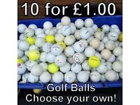 Golf Balls - £1 for 10 - Choose your own
