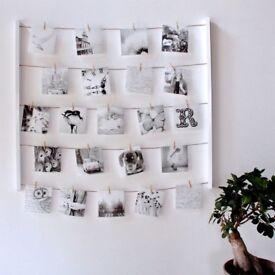White 'Hangit' Photo Display Home Decor Photo Christmas Note Frame
