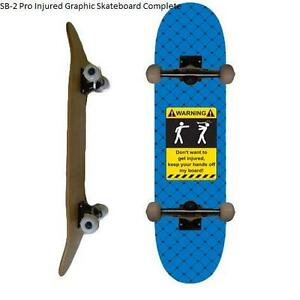 Easy People Skateboards Pro SB-2 &p;Semi-Pro SB-1 Natural-Stained-Graphic Completes Skateboard Deck Truck Wheel Bearin