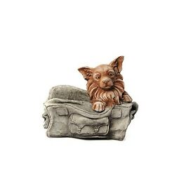 Dog in Bag stone ornament