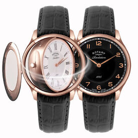 Rotary Revelation Gents Rose Gold Case Watch GS02967/21/19