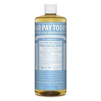 Dr Bronner Baby Mild Castile Liquid Soap - 946ml