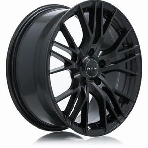 "RTX 18"" Wheel Set Honda Civic Accord Mazda Subaru Impreza WRX Nissan Hyundai Elantra Sonata Wheels Mag Noir Black Rims"