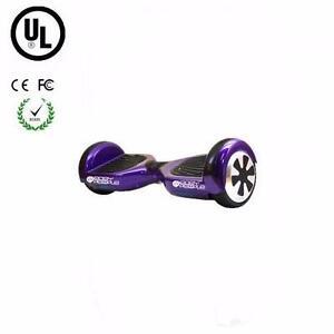 Easy People Two Wheel Bluetooth + Speakers Self Balancing Motorized Scooter hover Board Purple + UL, FC, CE Certificate
