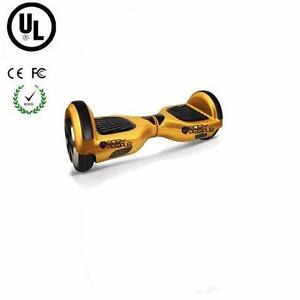 Easy People Two Wheel Bluetooth + Speakers Self Balancing Motorized Scooter hover Board Gold + UL, FC, CE Certificate