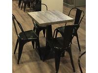 Pub/Restaurant Furniture (Job Lot): 24 chairs, 12 bar stools, 9 tables - As new.