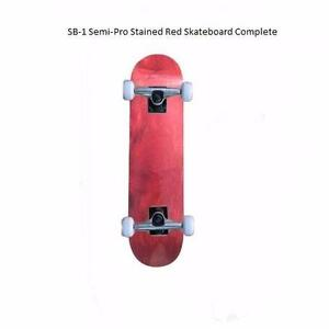 Easy People Skateboards Pro SB-2 &a;Semi-Pro SB-1 Natural-Stained-Graphic Completes Skateboard Deck Truck Wheel Bearings