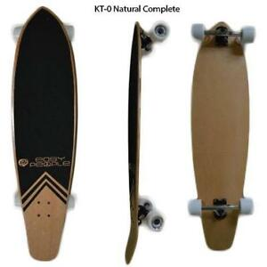 Easy People Longboards Pintail Kicktail Blank Natural Complete Longboard Series Trucks Wheels Bearings Grip Tape & More