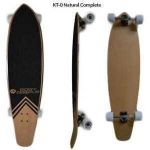 Easy People Longboards Pintail Kicktail Blank Natural Complete Longboard Series Trucks Wheels Bearings Grip Tape & More