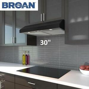 "NEW* BROAN 250 CFM RANGE HOOD 30"" BCS330BLC 230620952 UNDER CABINET BLACK"