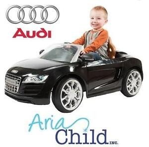 USED ARIA 6V AUDI R8 SPYDER CAR 2.5MPH - BLACK - 6V RIDE ON TOY BATTERY POWERED - RIDE-ON 99480501