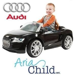NEW* ARIA AUDI R8 SPYDER RIDE ON 2.5MPH - BLACK - ARIA CHILD TOY CAR BATTERY POWERED - RIDE-ON 105916432