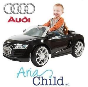 NEW* ARIA AUDI R8 SPYDER RIDE ON 2.5MPH - BLACK - ARIA CHILD TOY CAR BATTERY POWERED - RIDE-ON 108261262