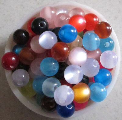 Free shipping 8mm New 250pcs mix colour LUSTER resin round beads # M117 on Rummage
