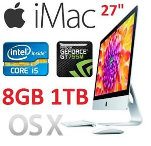 "REFURB APPLE IMAC 27"" AIO DESKTOP ME088LL/A 134191678 I5 8GB RAM 1TB HDD OSX GEFORCE GT 755M COMPUTER PC INTEL"