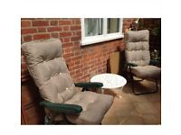 News Flash: Hot Weather Coming! Last Few Left-Garden Reclining Chairs & Cushions-RRP £125
