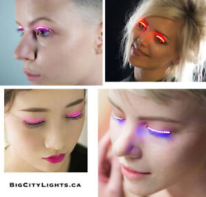 Fun LED Eyelashes - Great for nightclubbing  - now in stock!