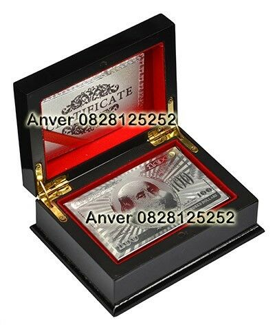 Deck of Playing Cards Silver Plated US Dollar Design  in newly designed elegant box