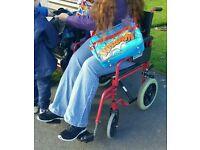 small wheeled fold up wheelchair