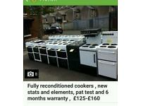 Large selection of reconditioned cookers with 6 months warranty + free delivery/installation