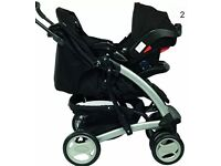 BNIB Graco Quartro Deluxe Travel System- Oxford with car seat