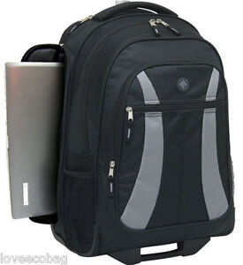 Travelers Club Luggage Rolling Backpack with Side Laptop Pocket - TSA Approved