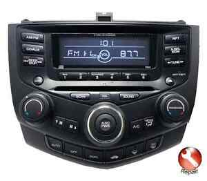 Honda Accord / Acura TSX, TL NAVI, 6CD changer radio repair
