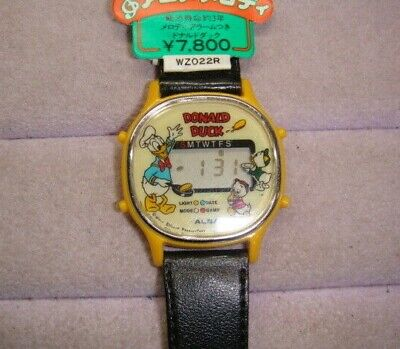 Alba Donald Duck Digital Wrist Watch Collectable Retro Vintage