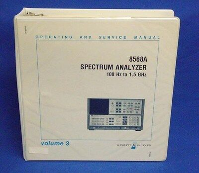 Hp 8568a Spectrum Analyzer Operating Service Manual 3