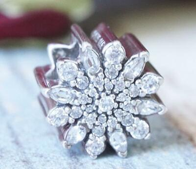 AUTHENTIC 😍 PANDORA 😍 silver CHARM 791764CZ ICE CRYSTAL WINTER SNOWFLAKE NEW Crystal Snowflake Charm