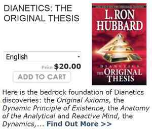 The Original Thesis of Dianetics, how did it start?