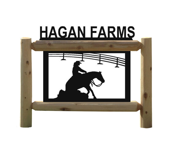 REINING HORSES - RODEO SIGN - OUTDOOR SIGNS - EQUESTRIAN - HORSE SIGNS