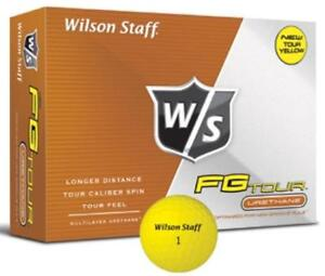 Wilson-Staff-FG-Tour-Golf-Balls-Yellow-Colored-Brand-New-1-Dozen-Golf-Balls