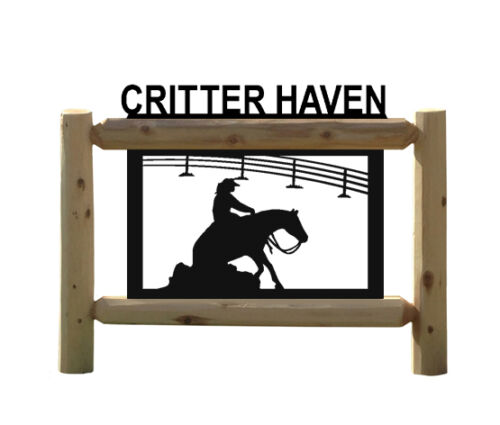 REINING HORSES  -RODEO SIGN - OUTDOOR SIGNS - EQUESTRIAN - HORSE SIGNS
