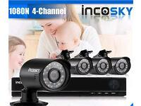 4 camera HD CCTV system - 2tb hdd - brand new