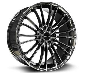 Roues (Mags) RTX Turbine Noir Chrome 16 pouces 5-100/114.3