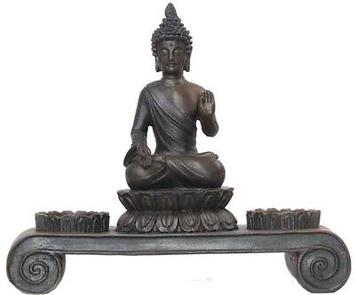 Deko Asien Teelichthalter BUDDHA Figur Statue Skulptur FENG SHUI NEU