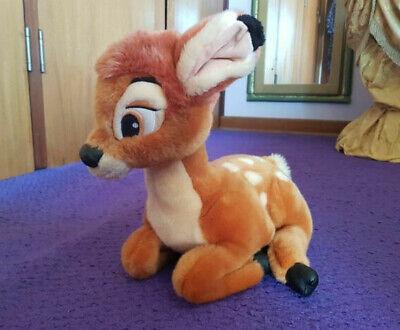 Disney World Theme Park Soft Deluxe Plush Toy Bambi Deer Fawn Kneeling Laying