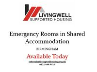 Rooms Available in Shared Accommodations TODAY **BIRMINGHAM** - JSA PIP ESA DSS Accepted
