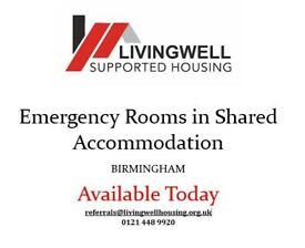 Need to move urgently? Rooms Available TODAY in BIRMINGHAM