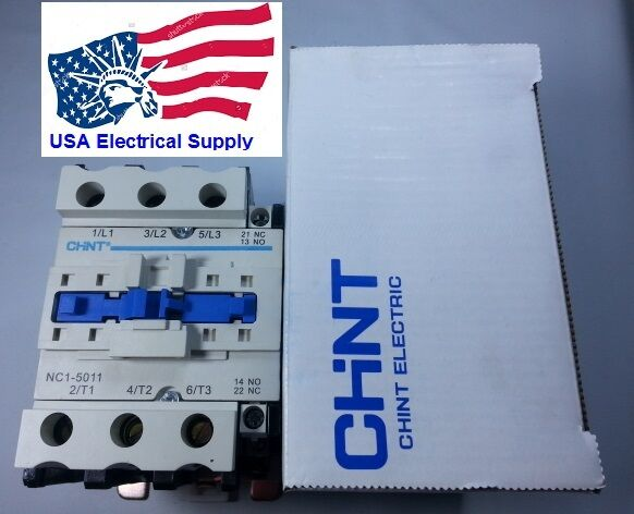 New Schneider LC1D5011 Replacement Chint Contactor NC1-5011 50A Coil 220VAC