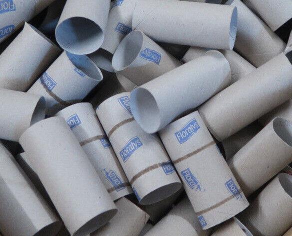 50 Klopapier Rollen leer WC Klorollen Basteln Papier Klopapierrollen Pappe