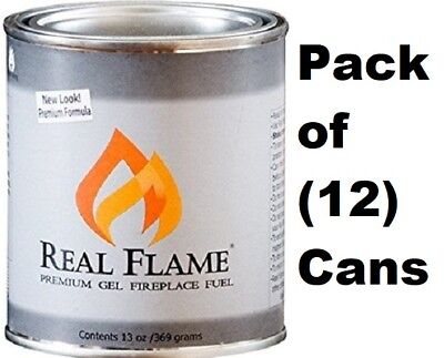 Real Flame 2112 13 oz Premium Gel Sootless Fireplace Fuel - Case of 12  ()
