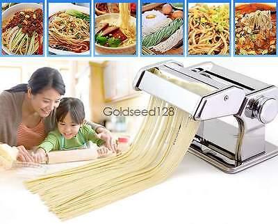 الة صنع المعكرونة جديد Pasta Maker Noodle Machine Spaghetti Clamp Fettuccine Roller Stainless Steel GSD