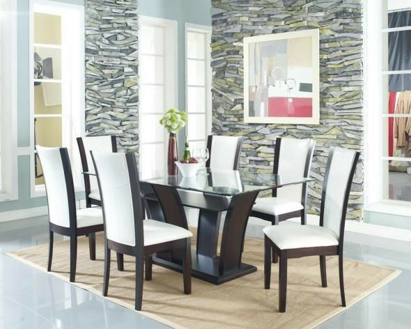 Modern Dining Room With Leather Chairs On Sale Lowest Price Dining Tables A