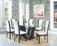 THIS WEEK SALE BRAND NEW GLASS DINING ROOM SAVE NOW