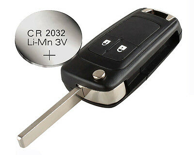 for Vauxhall OPEL Astra Corsa Insignia Zafira 2 buttons REMOTE KEY CASE+ battery