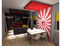 interior design/ 3d designing/ planing a space